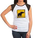 Elephant Crossing Women's Cap Sleeve T-Shirt