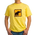 Elephant Crossing Yellow T-Shirt