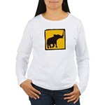 Elephant Crossing Women's Long Sleeve T-Shirt