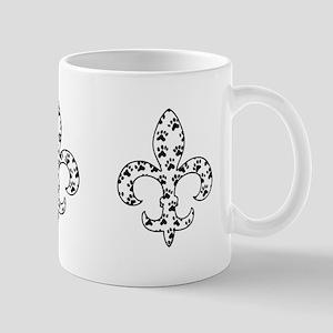 Fleur de lis Paws Mug