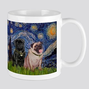 Starry Night & Pug Pair Mug