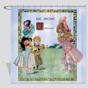 1888 Bebe Jumeau Doll 4 Kids Shower Curtain