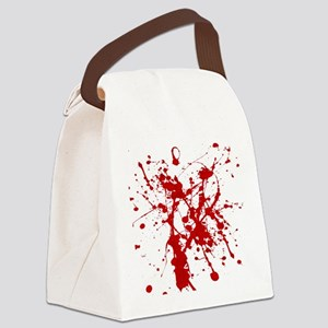 Red Splatter Canvas Lunch Bag