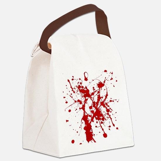 Red Splatter Canvas Lunch Bag