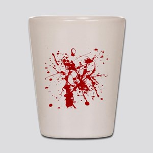 Red Splatter Shot Glass