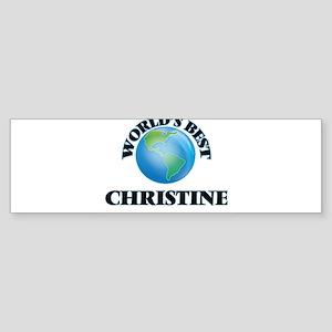 World's Best Christine Bumper Sticker
