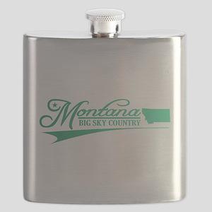 Montana State of Mine Flask