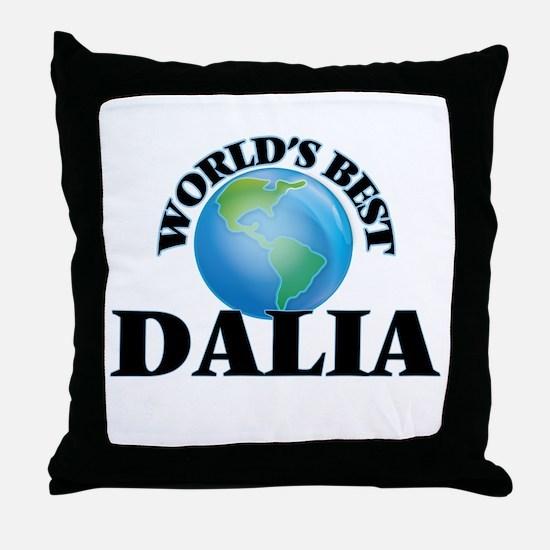 World's Best Dalia Throw Pillow