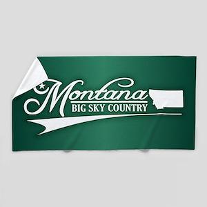 Montana State of Mine Beach Towel