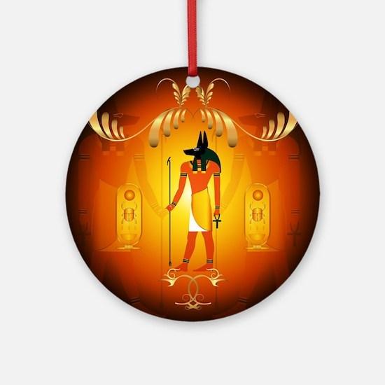 Anubis Ornament (Round)