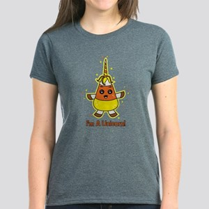 Candy Corn Unicorn Women's Dark T-Shirt