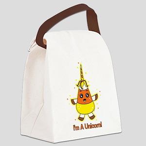 Candy Corn Unicorn Canvas Lunch Bag