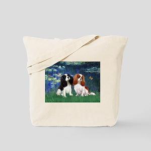 Lilies (5) & Cavalier Pair Tote Bag
