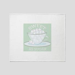 Sweet As Sugar Throw Blanket