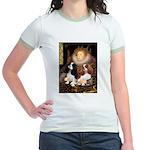 The Queens Cavalier Pair Jr. Ringer T-Shirt
