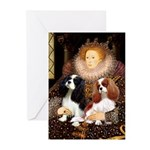 The Queens Cavalier Pair Greeting Cards (Pk of 10)