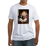 The Queens Cavalier Pair Fitted T-Shirt