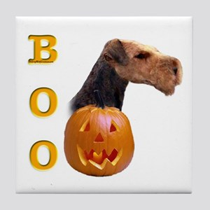 Airedale Boo Tile Coaster