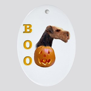 Airedale Boo Oval Ornament