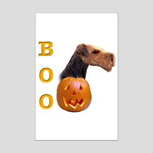 Airedale Boo Mini Poster Print
