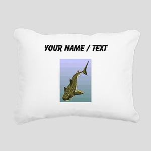 Custom Whale Shark Rectangular Canvas Pillow