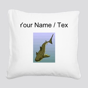 Custom Whale Shark Square Canvas Pillow