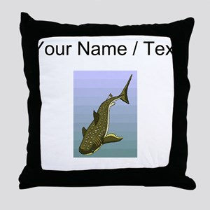 Custom Whale Shark Throw Pillow