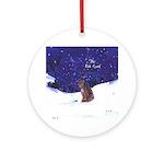 Cat Carol Ornament (Round)