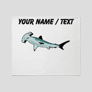 Custom Hammerhead Shark Throw Blanket