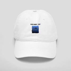 Custom Shark Silhouette Baseball Cap