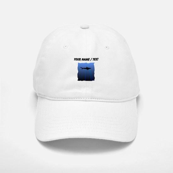 Custom Shark Silhouette Baseball Baseball Baseball Cap