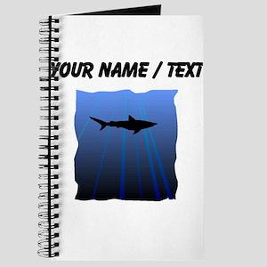 Custom Shark Silhouette Journal