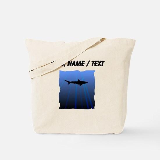Custom Shark Silhouette Tote Bag