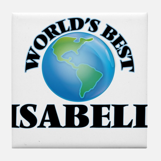 World's Best Isabell Tile Coaster