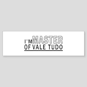 I Am Master Of Vale Tudo Sticker (Bumper)