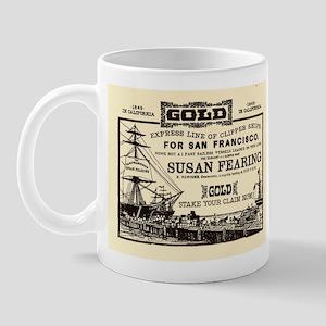 Gold Express Clipper Ships Mug