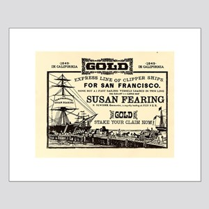 Gold Express Clipper Ships Small Poster