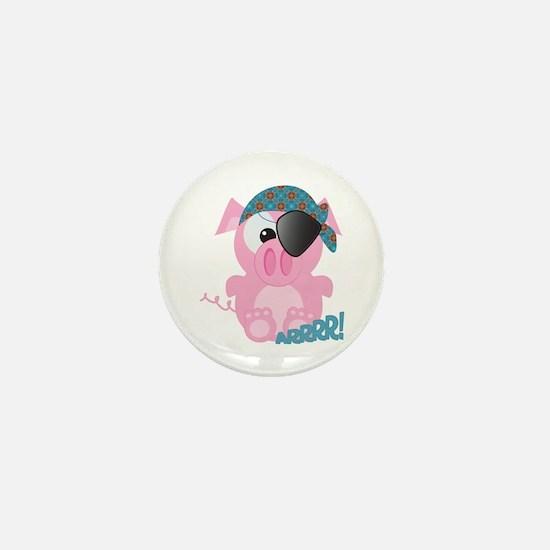 Cute Goofkins Piggy Pig Pirate Mini Button
