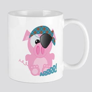 Cute Goofkins Piggy Pig Pirate Mug