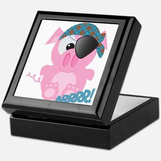 Cute Goofkins Piggy Pig Pirate Keepsake Box