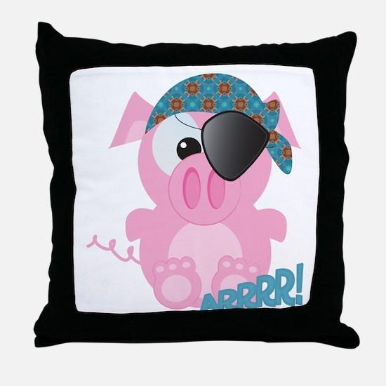 Cute Goofkins Piggy Pig Pirate Throw Pillow