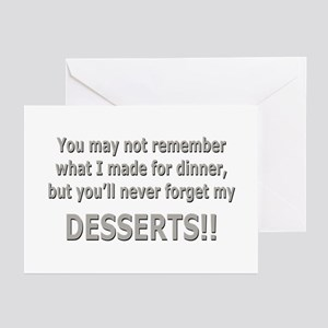 DESSERTS!! Greeting Cards (Pk of 10)
