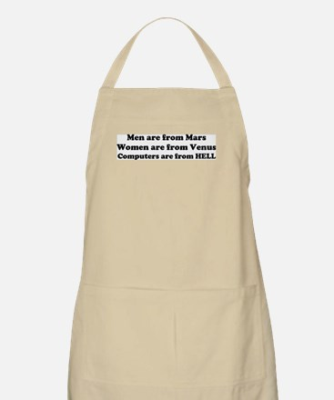 Computers are from HELL<br> BBQ Apron
