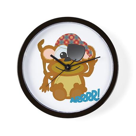 Cute Goofkins Monkey Pirate Wall Clock
