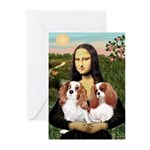 Mona's 2 Cavaliers Greeting Cards (Pk of 10)