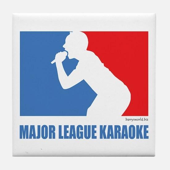 ML Karaoke 1 Tile Coaster