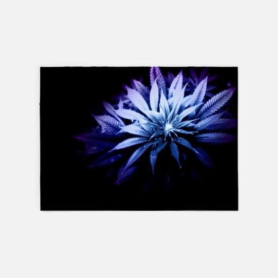 Blue Kush 5'x7'Area Rug