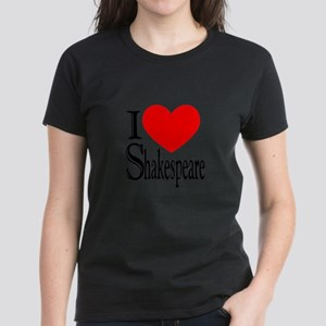 I Love Shakespeare Women's Dark T-Shirt