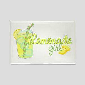 Lemonade Girl Rectangle Magnet