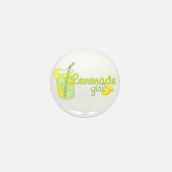 Lemonade Girl Mini Button